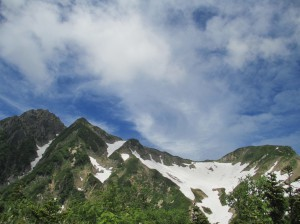五竜岳と小屋