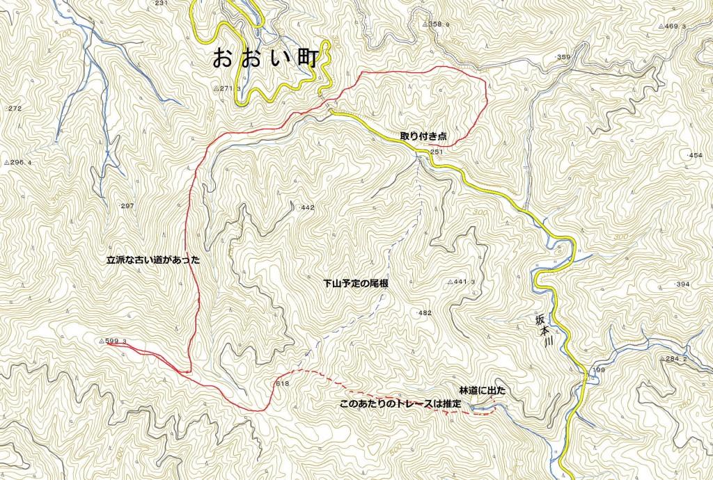石山坂峠(トレース_推定)