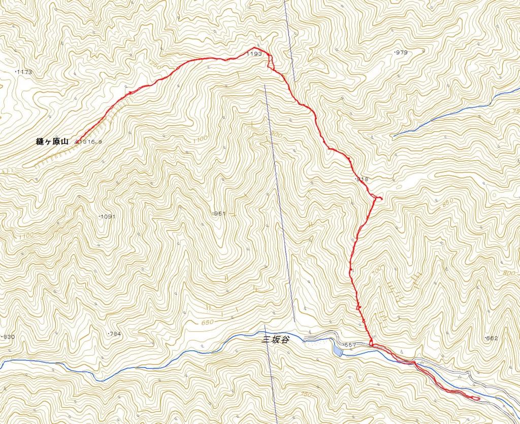 縫ヶ原山GPS図面