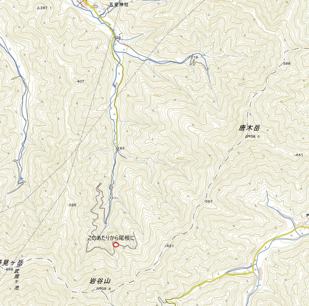 唐木岳ナメコ(地図大)
